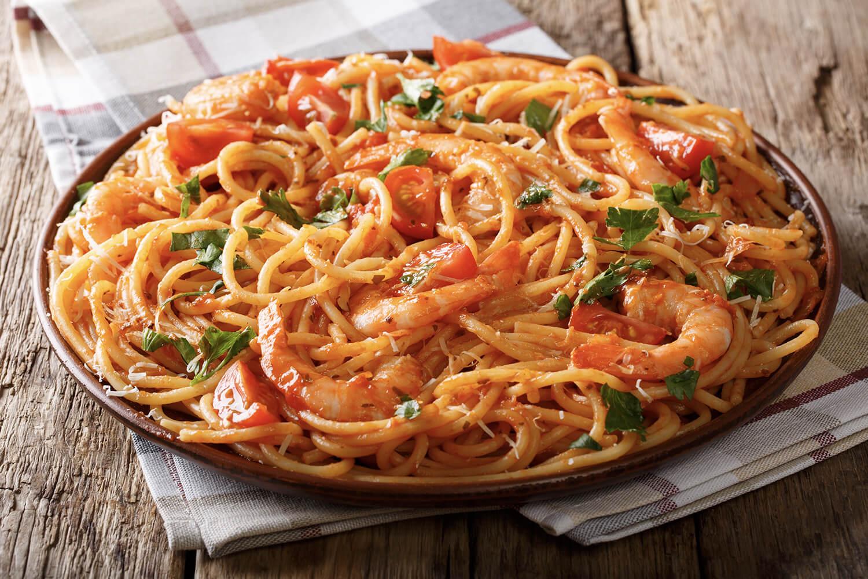 Shrimp-Fra-Diavolo Dish