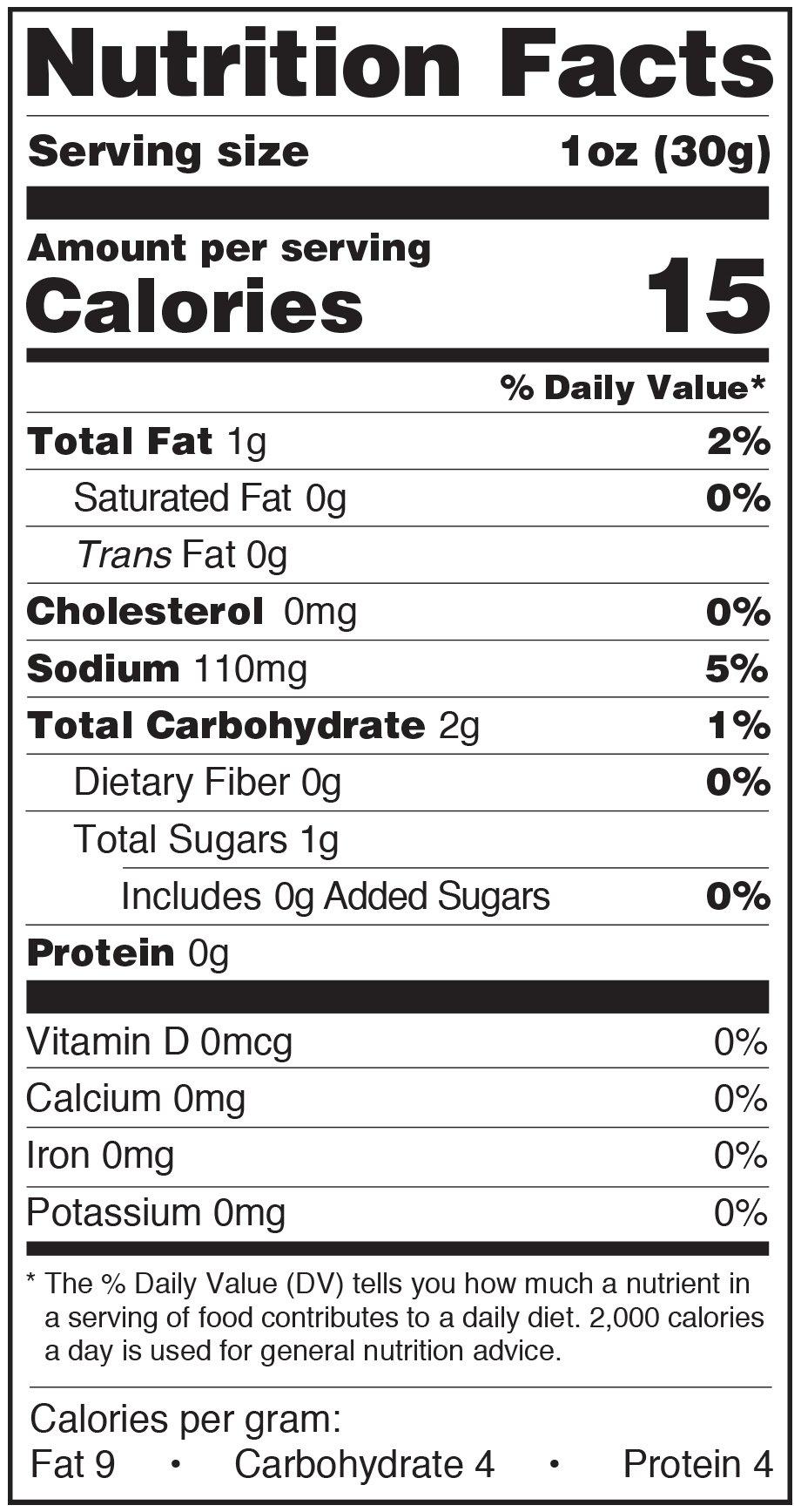 Paesana Condiments Nutrition Facts Label Ital Bals Mushrooms