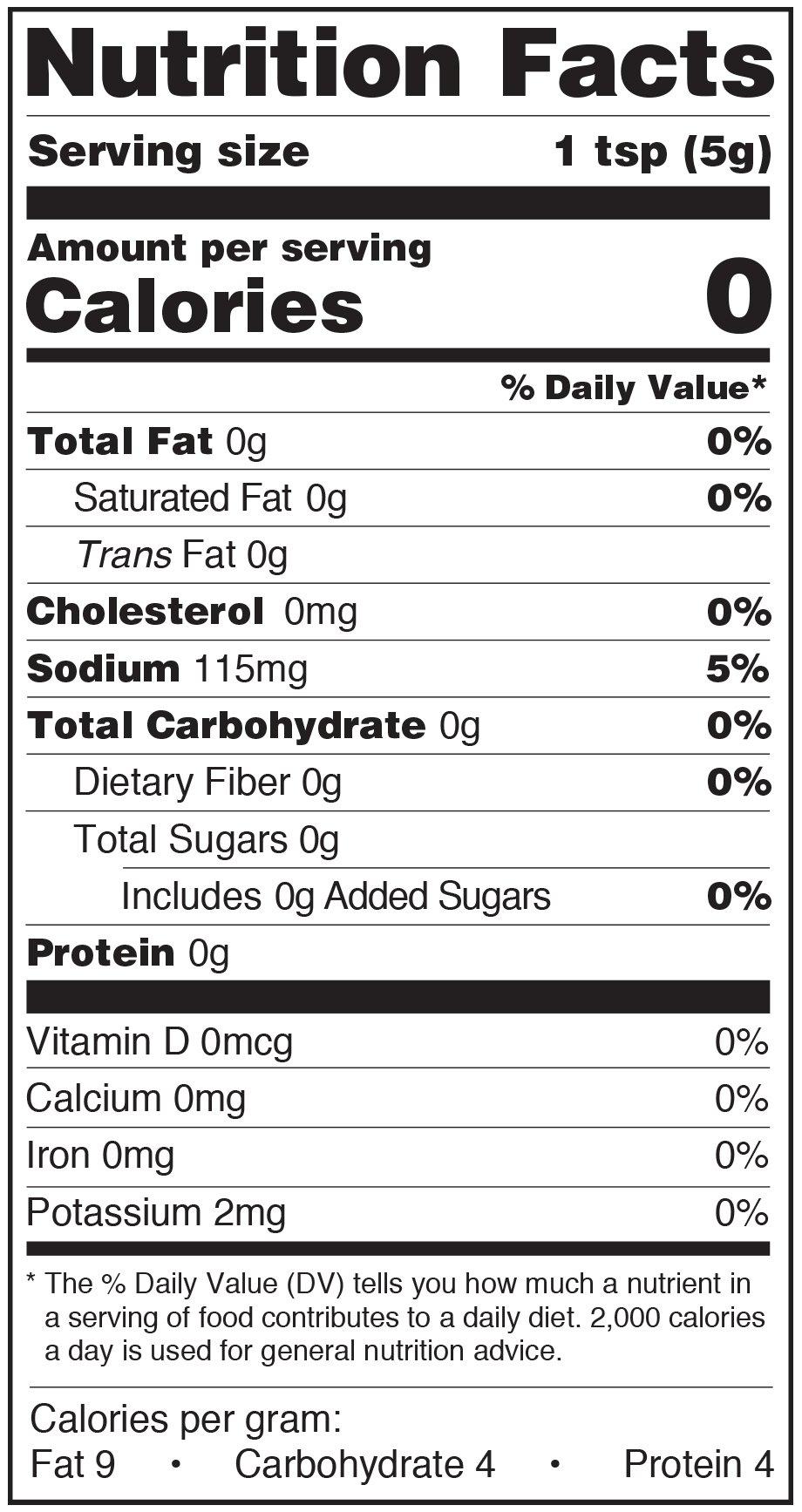 Paesana Condiments Nutrition Facts Label Non Pareil Capers