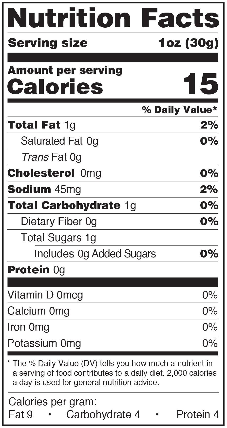 Paesana Condiments Nutrition Facts Label Porto Mush Roast Peppers