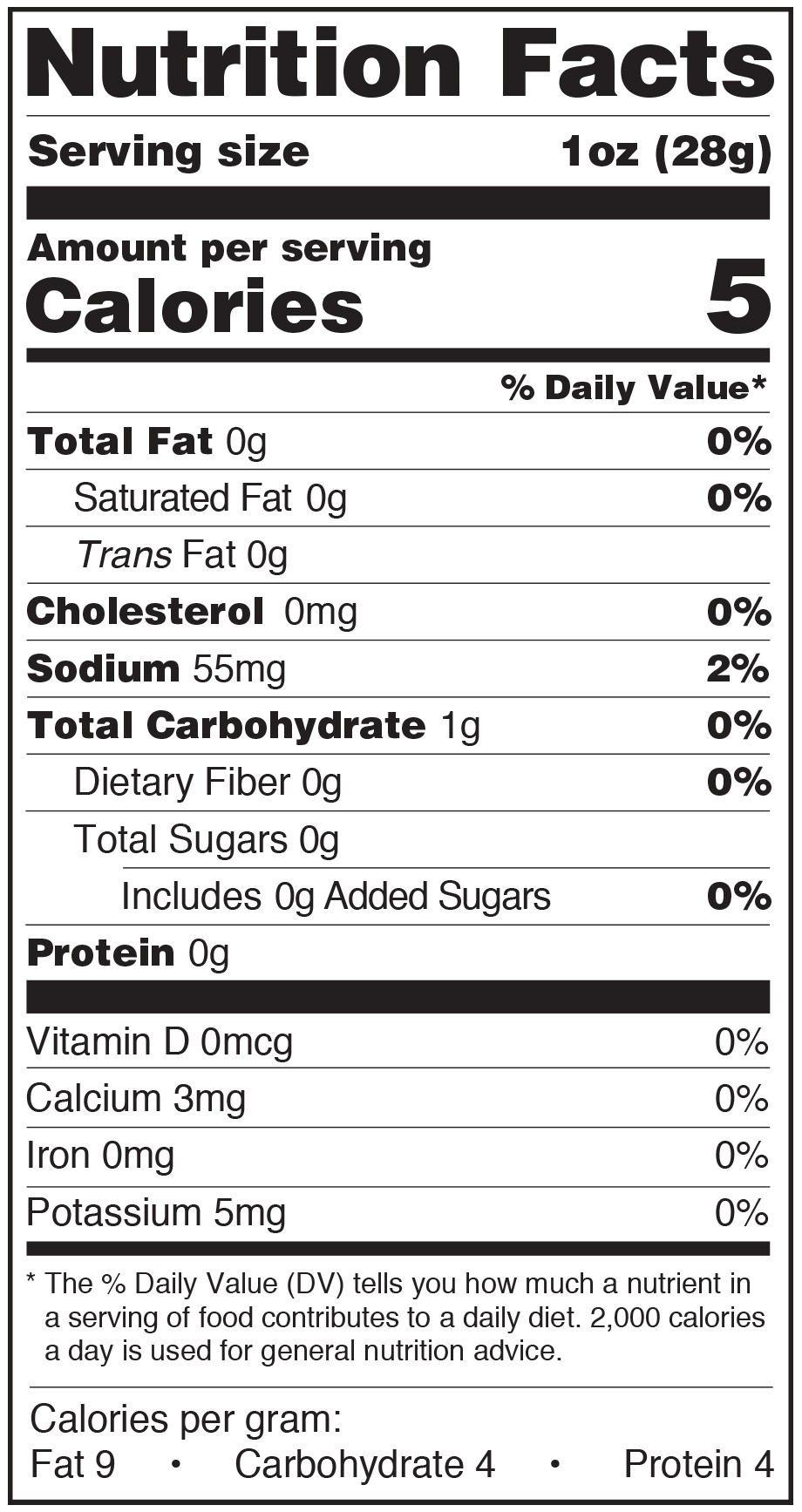Paesana Condiments Nutrition Facts Label Roasted Peppers