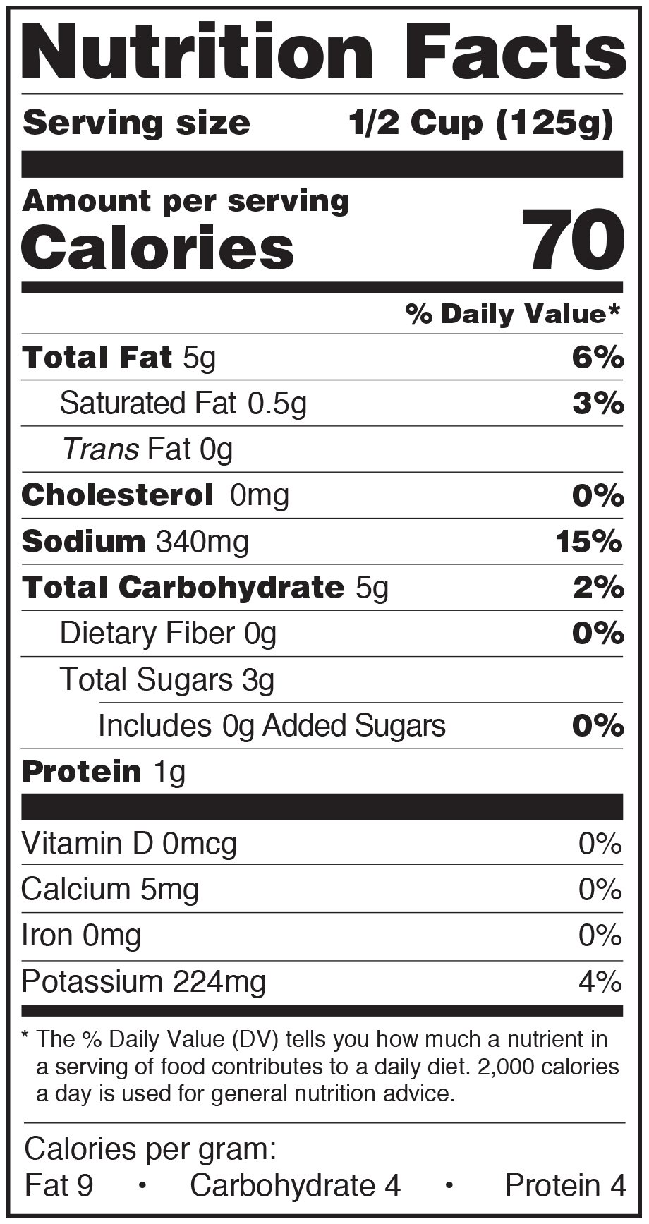 Paesana Patsa Sauce Nutrition Facts Label Marinara