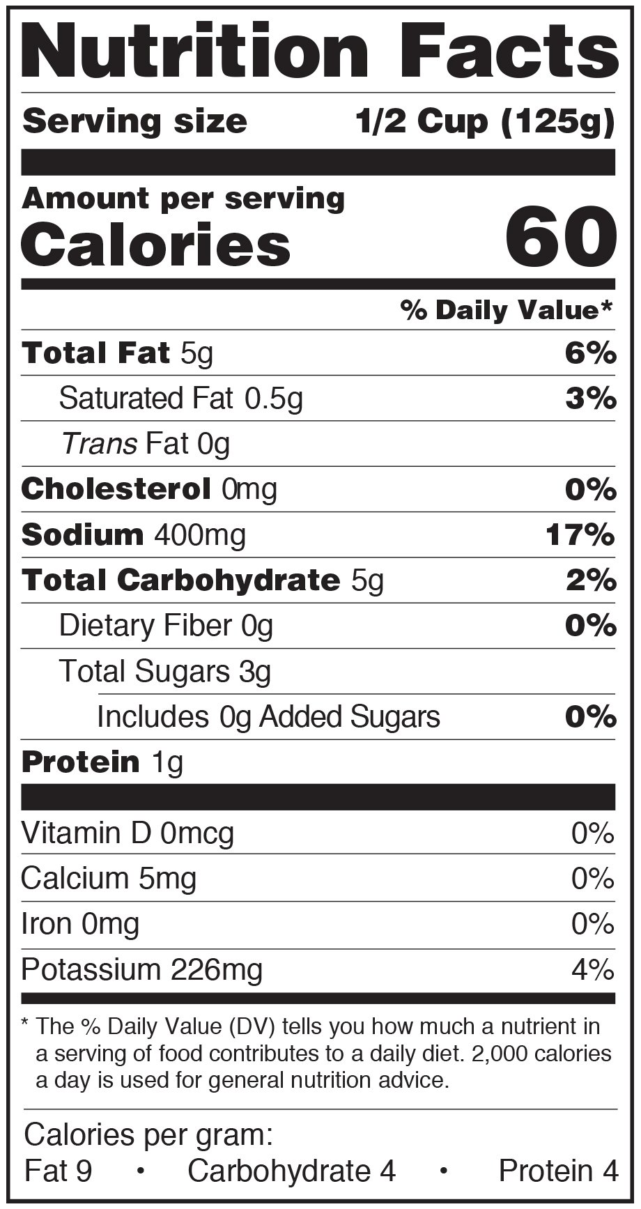 Paesana Pasta Sauce Nutrition Facts Label fra diavolo