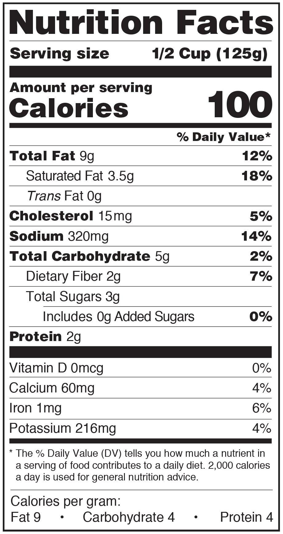 Paesana Patsa Sauce Nutrition Facts Label vodka