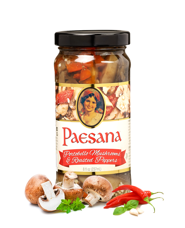 Paesana 8oz Portobello Mushrooms & Roasted Peppers