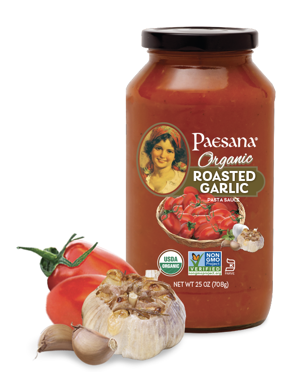 paesana roasted garlic organic sauce