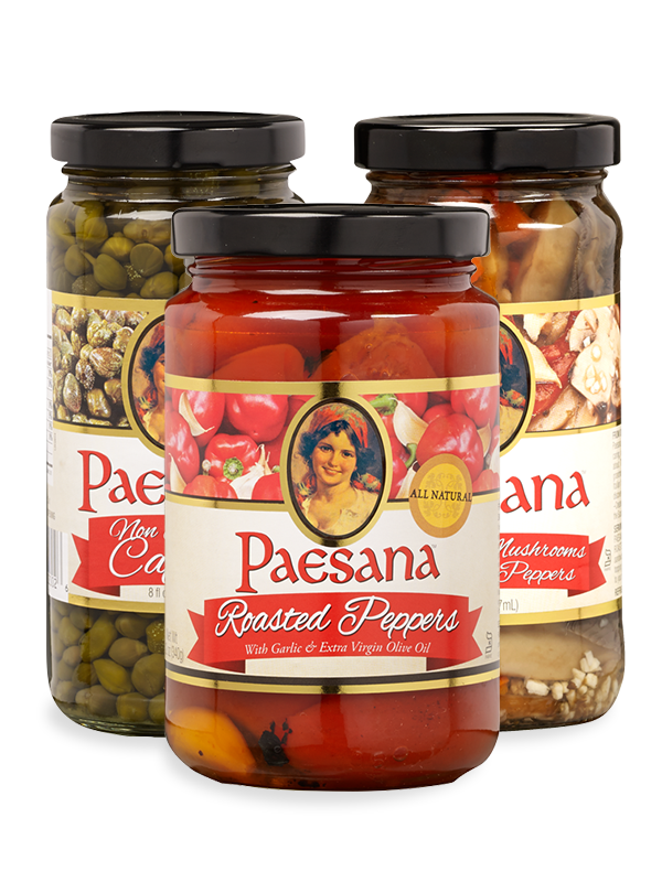 Jars of Paesana Condiments