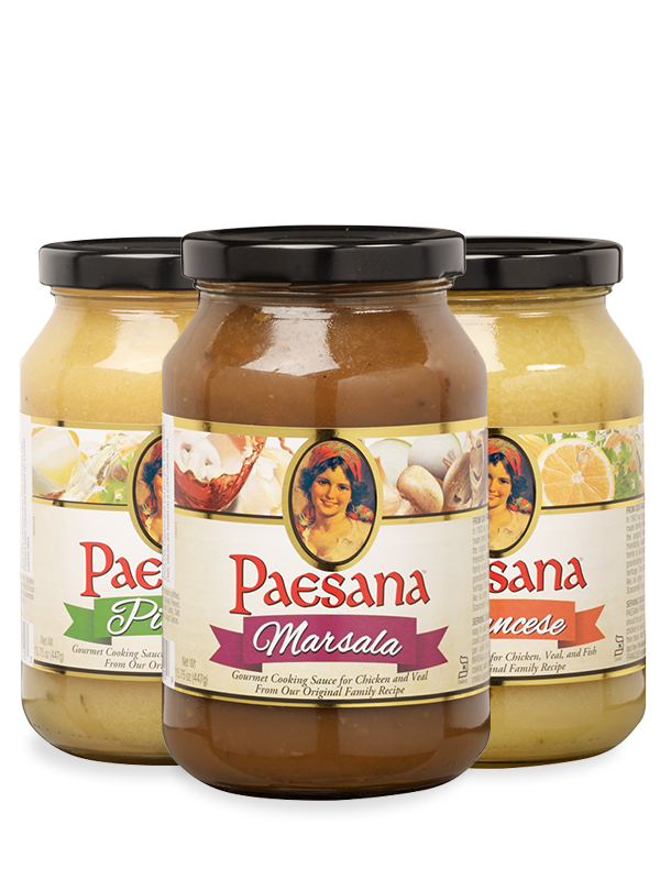 Jars of Paesana Cooking Cauces