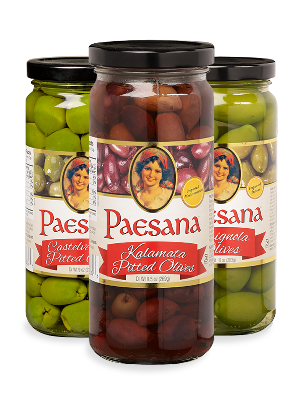 Jars of Paesana Olives