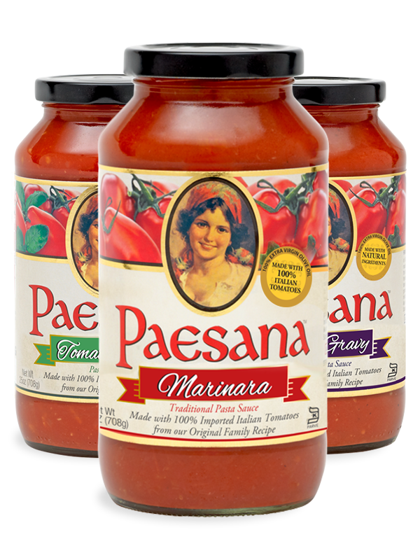 Jars of Paesana Pasta Sauces