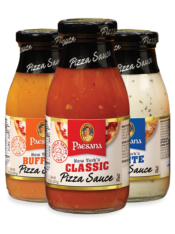 Jars of Paesana Pizza Sauces