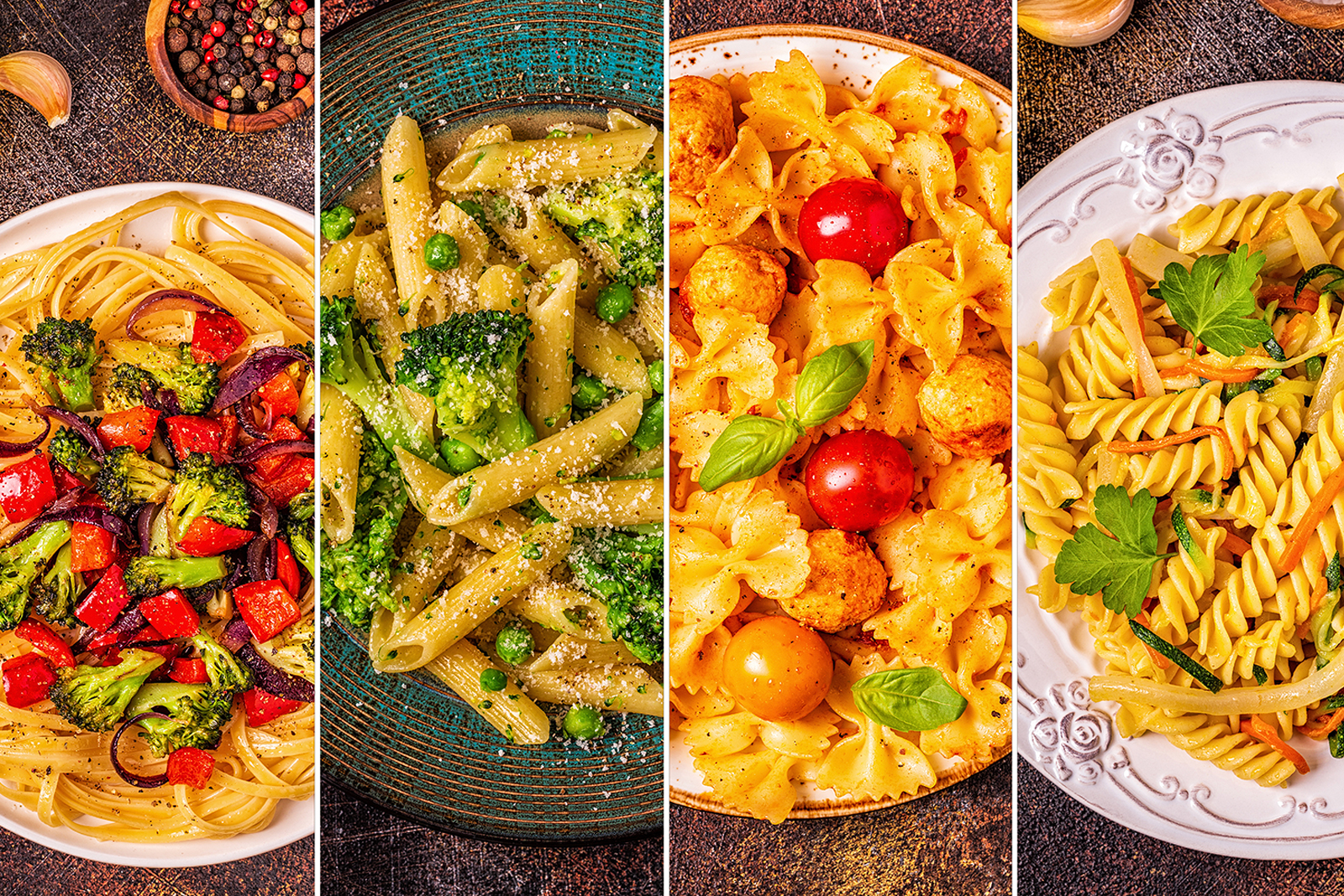 Collage of Pasta Dishes