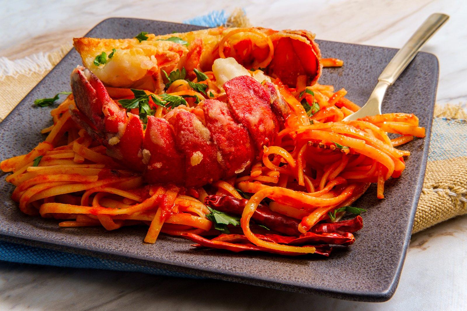 Lobster Fra Diavolo on modern plate