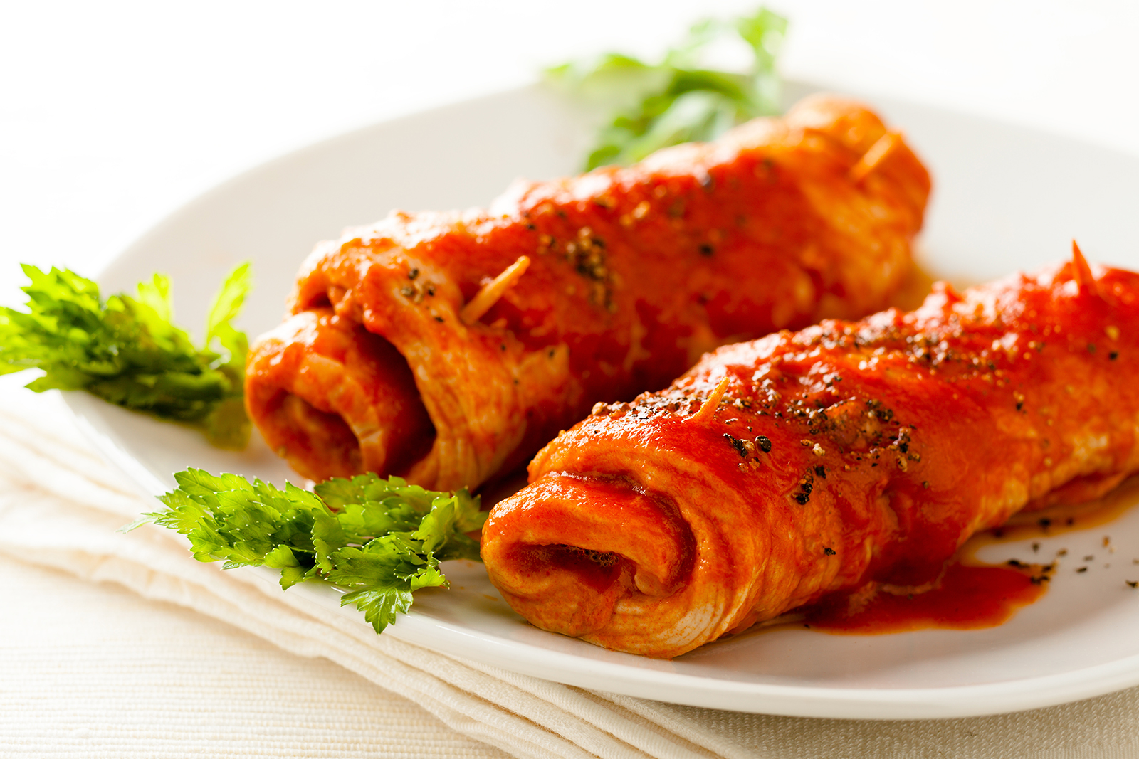 upclose shot of braciole