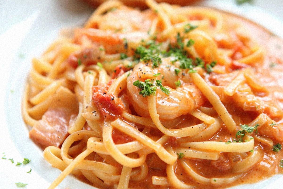 Shrimp and Roasted Garlic with Linguine
